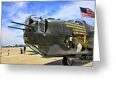 Witchcraft Wwii Bomber Greeting Card