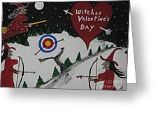 Witches Valentine's Day Greeting Card