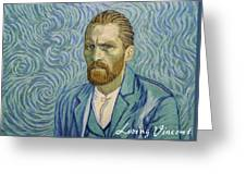 With A Handshake - Your Loving Vincent Greeting Card