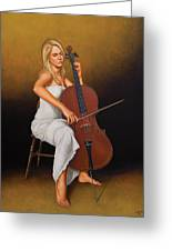 With Music In Her Soul Greeting Card