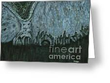 Wither - Original Abstract Modern Art Greeting Card