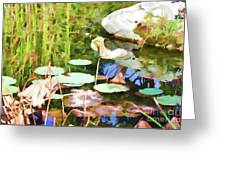Withered Lotus In The Pond 2 Greeting Card