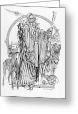 Wizard Iv - Wandering Wiseman - Pax Consensio Greeting Card