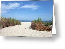 Wladyslawowo White Sand Beach At Baltic Sea Greeting Card