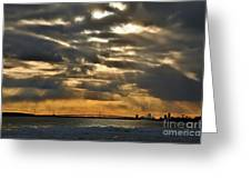 Wny Spring Sunset Greeting Card