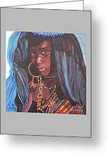 Virtuous Wodaabe Girl          From The Attitude Girls  Greeting Card