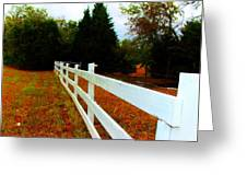 Wodden Fence  Greeting Card