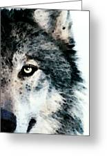 Wolf Art - Timber Greeting Card by Sharon Cummings