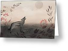 Wolf At Twilight Greeting Card