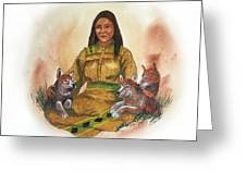Wolf Clan Mother Greeting Card