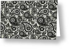 Wolf Gray Paisley Design Greeting Card