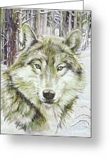 Wolf Head Greeting Card