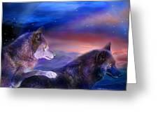 Wolf Mates Greeting Card