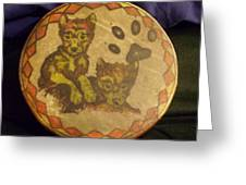 Wolf Pup Drum Greeting Card