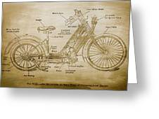 Wolfmueller Motor Cycle 1894 Greeting Card