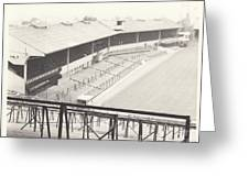 Wolverhampton - Molineux - Waterloo Road Stand 1 - Bw - Leitch - September 1968 Greeting Card