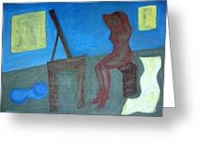 Woman After Bathing Greeting Card