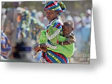 Woman And Child Iv Greeting Card