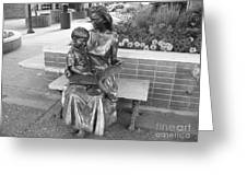 Woman And Child Sculpture Grand Junction Co Greeting Card