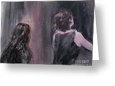 Woman And Friend Greeting Card