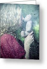 Woman And Teddy Greeting Card