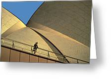 Woman At Sydney Opera House Greeting Card