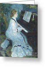 Woman At The Piano Greeting Card