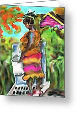 Woman At The Well Greeting Card
