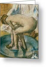 Woman Bathing In A Shallow Tub, 1885 Pastel by Edgar Degas