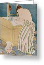 Woman Bathing Greeting Card