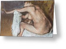 Woman Drying Her Arm Greeting Card