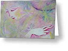 Woman Face Detail Greeting Card