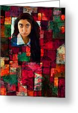Woman In Abstract 454 Greeting Card