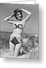 Woman In Bikini, C.1950s Greeting Card