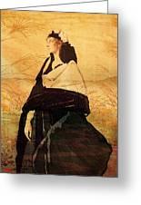 Woman In Black Greeting Card
