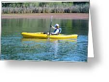 Woman In Kayak Greeting Card
