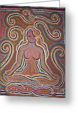 Woman In Meditative Bliss Greeting Card