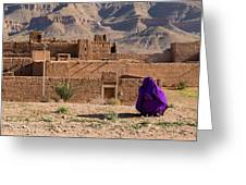Woman In Purple Greeting Card