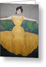 Woman In A Yellow Dress Greeting Card