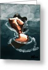 Woman In The Water  Greeting Card