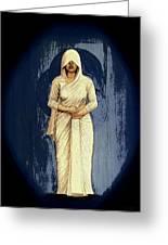 Woman In White - Widow Greeting Card