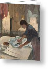 Woman Ironing Greeting Card