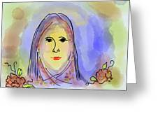 Woman Of Grace Greeting Card