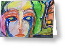 Woman Of The Trees Greeting Card