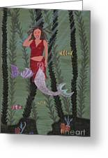 Woman Of The Waves Greeting Card