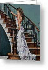 Woman On A Staircase 3 Greeting Card