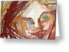 Woman Out Of Present Time Greeting Card