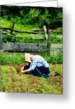 Woman Planting Garden Greeting Card