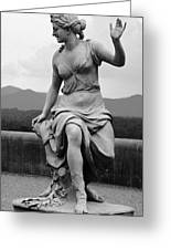 Woman Sculpture Nc Greeting Card