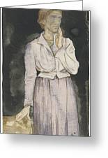 Woman Standing Greeting Card